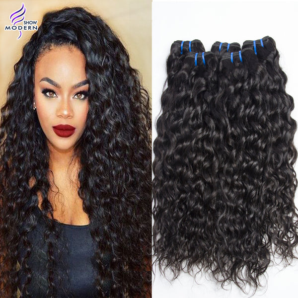 Modern Brazilian Virgin Hair Water Wave Unprocessed Wet and Wavy 4 Bundles-NicheCategory