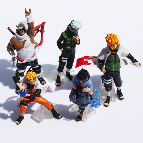Naruto Action Figure 5 Pcs/set Naruto Kakashi Sasuke Uzumaki Figure-NicheCategory