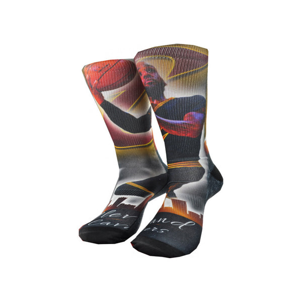 Officially Licensed NBA Cleveland Cavaliers Socks Size L-NicheCategory