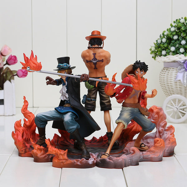 One piece 3pcs/set Monkey D Luffy ace Sabo 5.5-6.5in collectors action figure to-NicheCategory