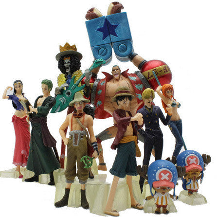 One Piece Action Figure 10pcs Luffy Nami Roronoa Zoro Collection-NicheCategory