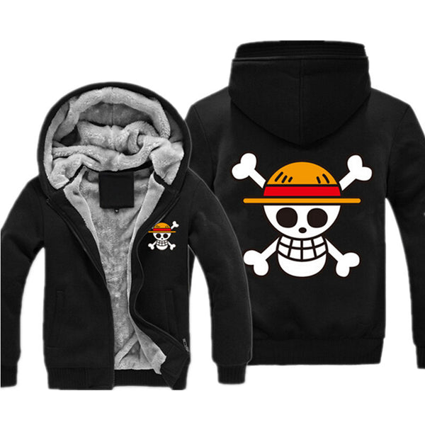One Piece Sweatshirt Anime Coat Luffy Chopper Thicken Zipper Hoodies-Clothing-NicheCategory