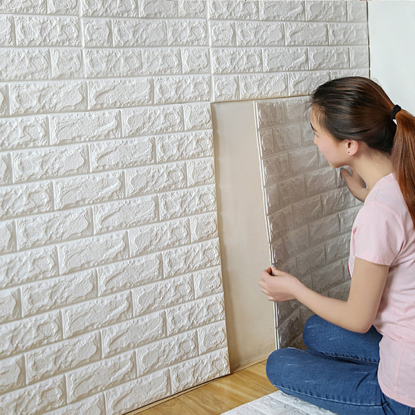 PE Foam 3D Wall Stickers 28x30in Safety Home Wallpaper DIY Brick Decor-NicheCategory