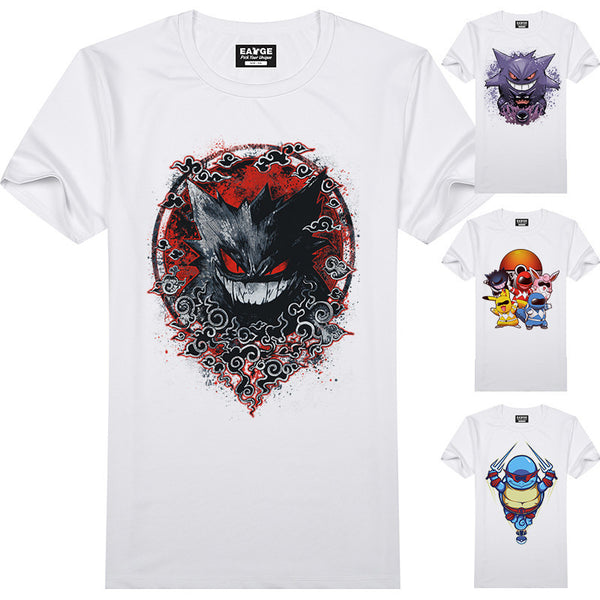 Pokemon Go 3D T Shirt Design Gengar Pickachu Novelty Funny unisex Top Tee-Clothing-NicheCategory