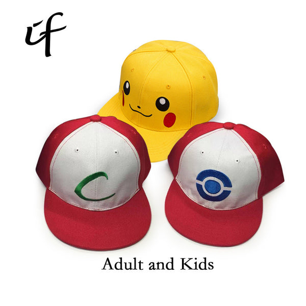 Pokemon Go Cosplay Cap Pikachu Dad Hat Baseball Cap Ash Ketchum-Clothing-NicheCategory