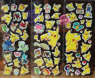 Pokemon stickers kids rooms 1 set cartoon decor Diary Notebook-NicheCategory