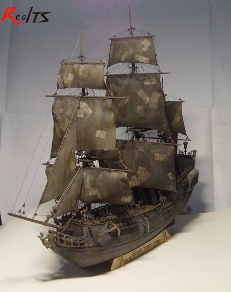 RealTS Black Pearl ship boat kit 1/96 scale 3d Laser Cut Diy Model Kit-NicheCategory