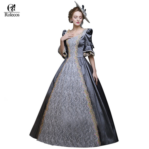 Retro Medieval Renaissance Victorian Dresses Princess Ball Gowns Masquerade Costumes-NicheCategory