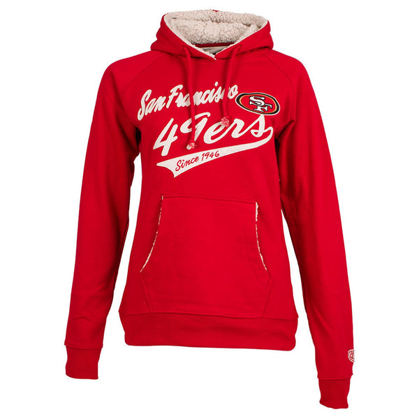 San Francisco NFL 49ers Women's Flair Fleece pullover Hoodie-NicheCategory