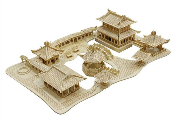 Suzhou Gardens Wooden 3D Puzzle Scale Models DIY Handmade Adult-NicheCategory