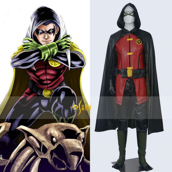 Teen Titans cosplay Robin Full Set Costume Men's Adult Costume Battle-Clothing-NicheCategory