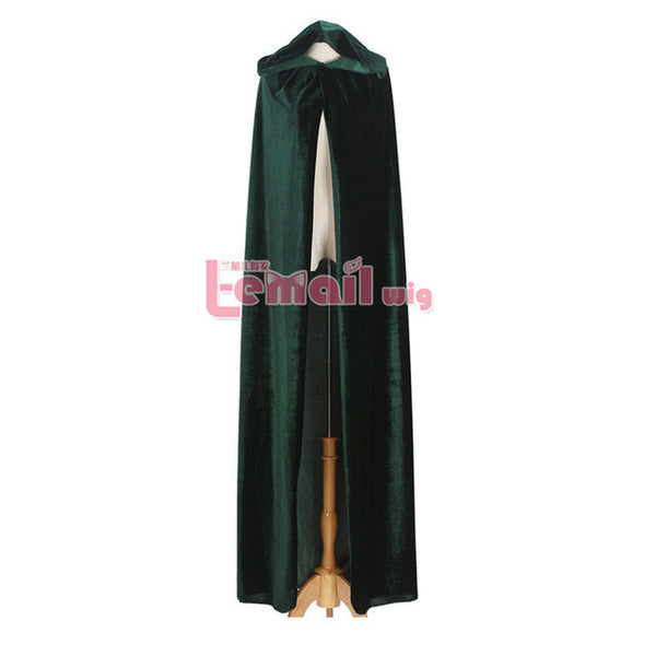 Wizard Witch Adult Long Purple Green Red Black Halloween Cloaks Hood Capes-NicheCategory