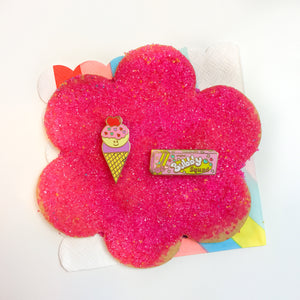 SECONDS/SAMPLE SALE-Happy Heart Ice Cream Love Pin
