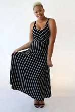 Black and White Stripe Sundress