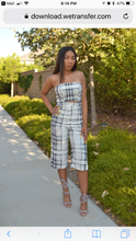 Navy and Grey Strapless Jumpsuit