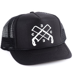 ChopCult Hacksaw Trucker Hat - Black