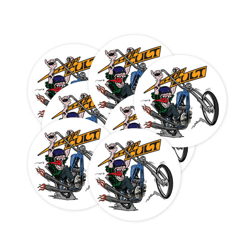 ChopCult - Motorcycle Logo - Round Sticker