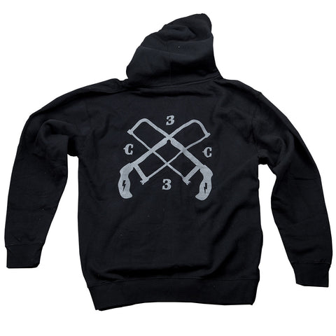 ChopCult - Hacksaw Hoodie with Reflective Print - Mens - Black