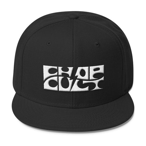 ChopCult Logo Snapback Hat - White Embroidered Logo