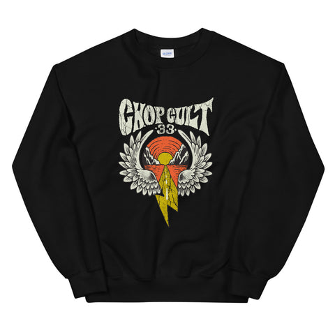 ChopCult Winged Lighting Logo Sweatshirt - Black