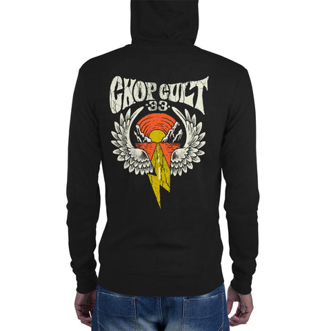 ChopCult Winged Lighting Logo - Unisex zip hoodie - Multiple Color Options