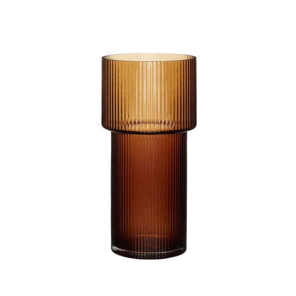 Amber Cylinder Glass Vase- PICK UP ONLY