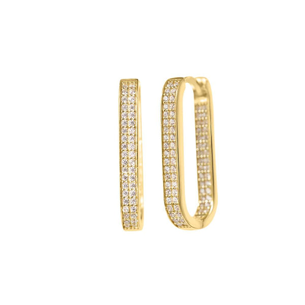 Crystal Square Hoops