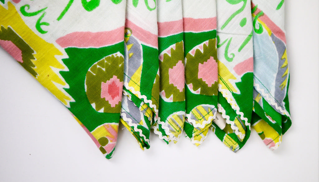 Cloth Napkins Set of Six Indian Cotton