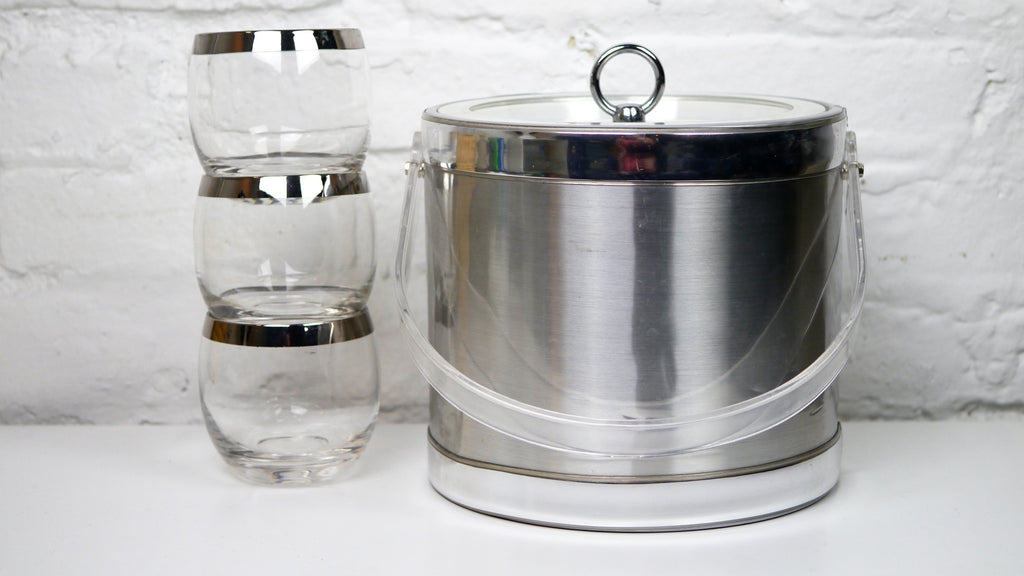 Georges Briard Ice Bucket Silver Chrome