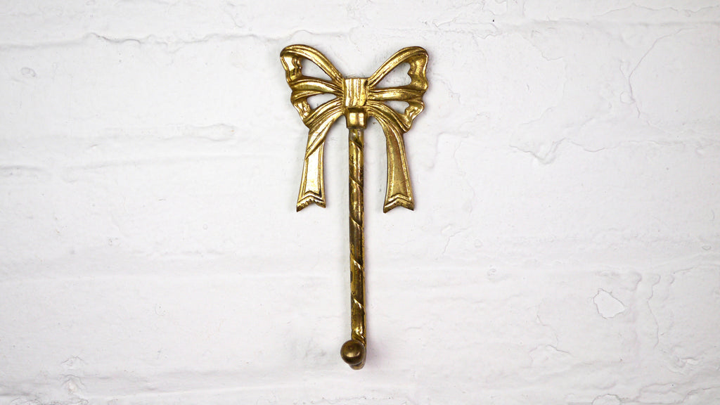 Brass Bow wall hook
