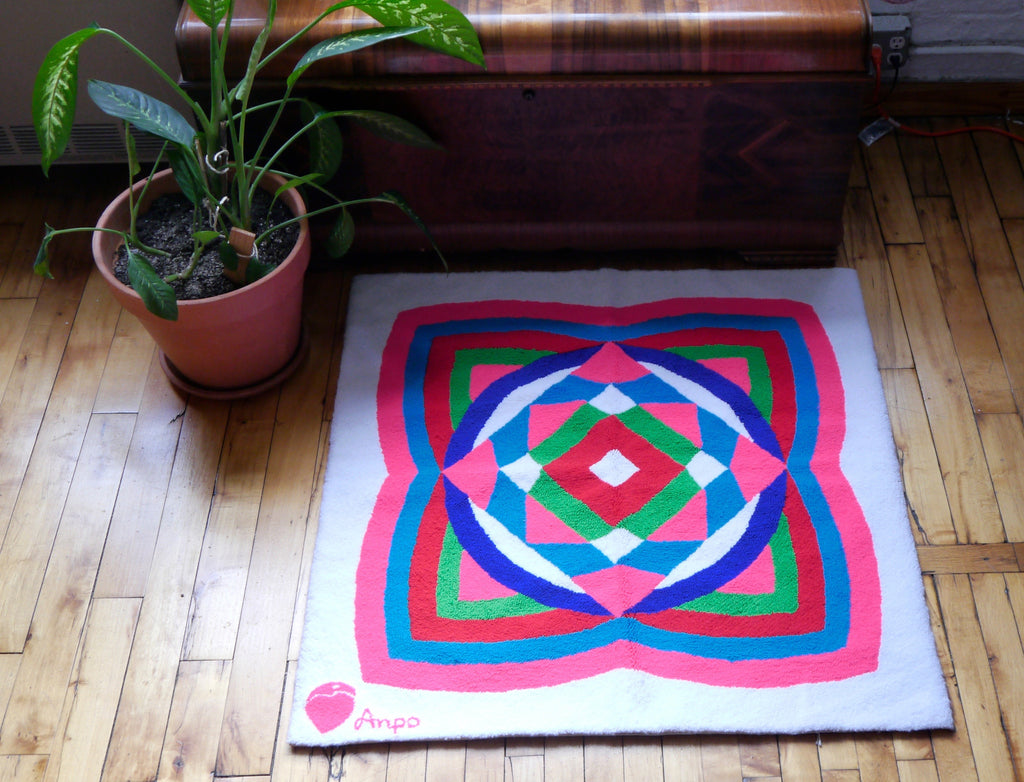 Geometric Peruvian Handwoven Rug or Wall Hanging