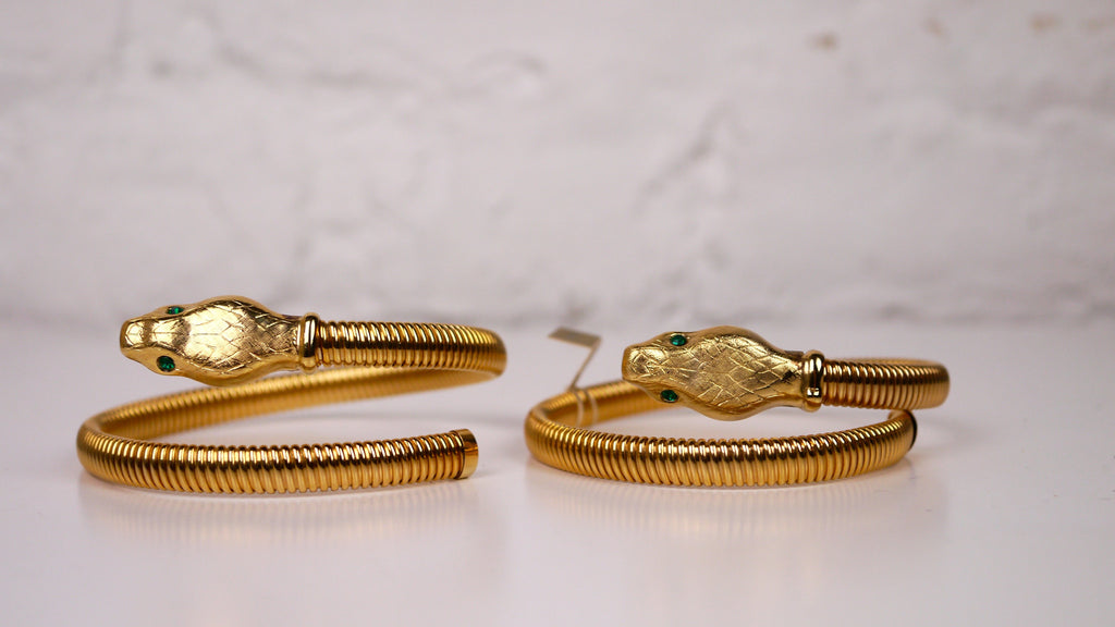 Pair Napier Snake Arm Bands Cuffs Bracelets