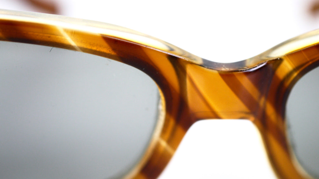 94cc695d3673 ... Vintage Polaroid Cool Ray Sunglasses Styled by Cari Michelle Striped  Tortoise Shell 1950s ...