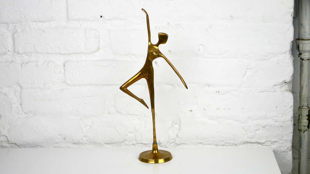 Vintage Brass Woman Dancer Nude