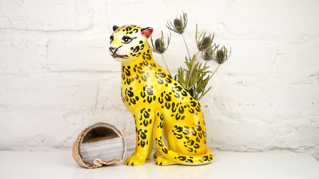 Vintage Jaguar Leopard Cat Planter Parma by AAI