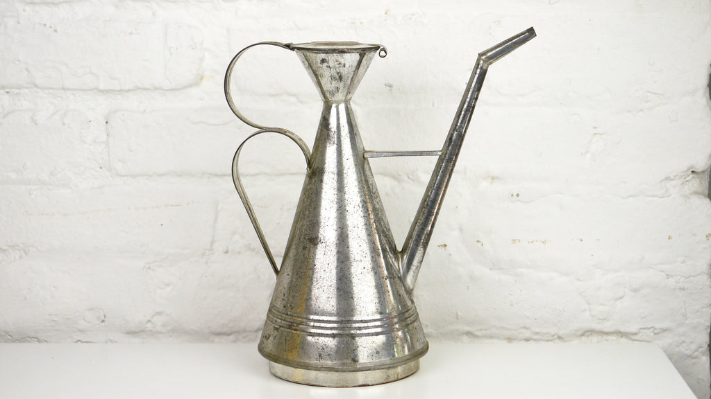 Vintage Metal Oil/Watering Can Unusual Atomic Shape