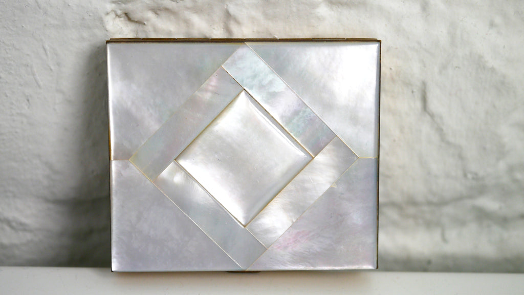 Vintage Mother of Pearl Compact Mirror