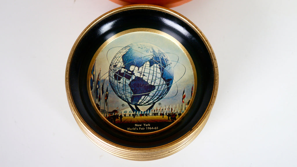 Vintage 1960s New York Worlds Fair 1964 1965 Ashtray Trinket Dish Metal