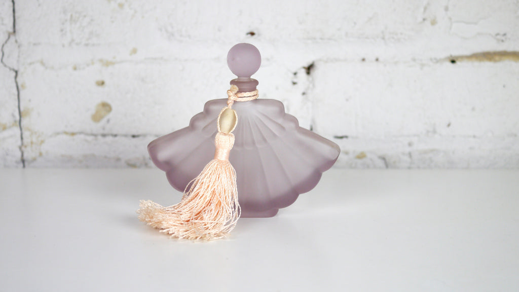 Vintage Purple Lavender Perfume Bottle Pink Tassel by Silvestri