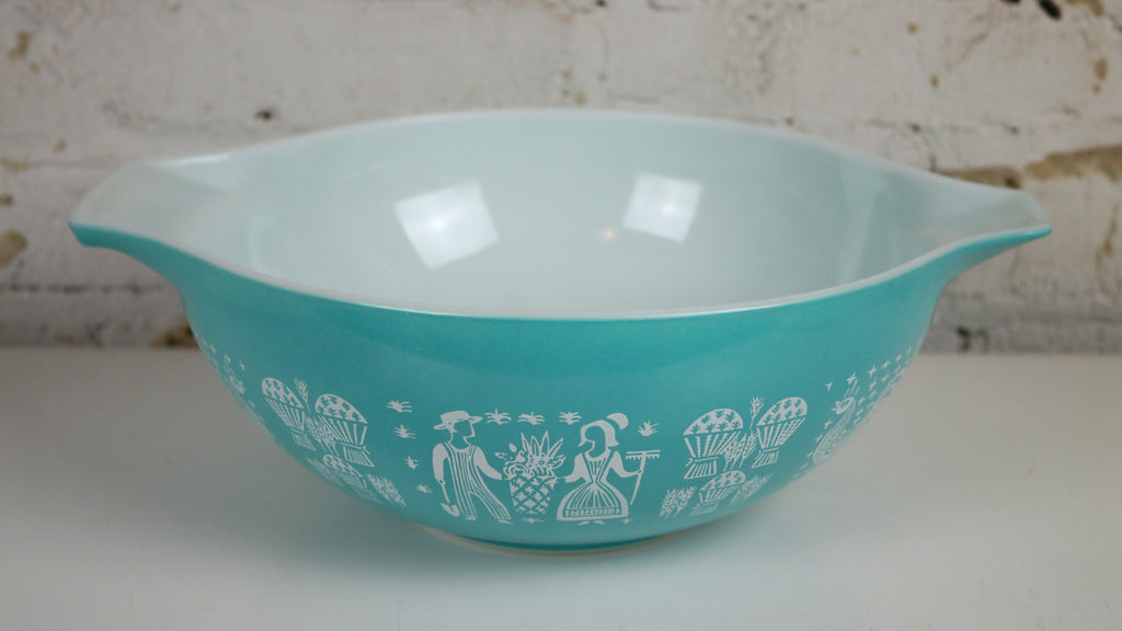 Vintage Pyrex Blue Butterprint Cinderella Mixing Bowl 444