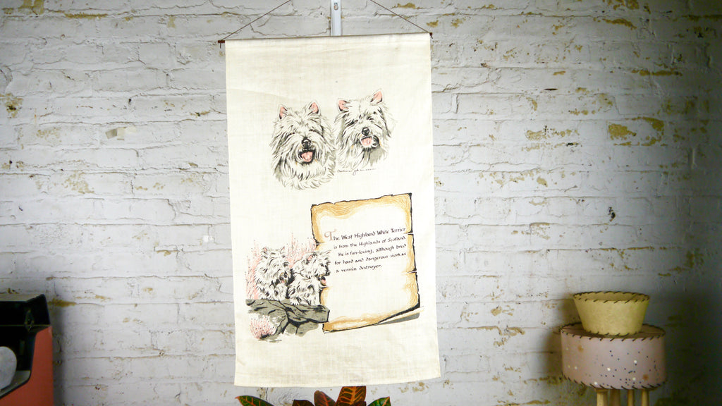 Vintage West Highland White Terrier Wall Hanging Barbara Johansson
