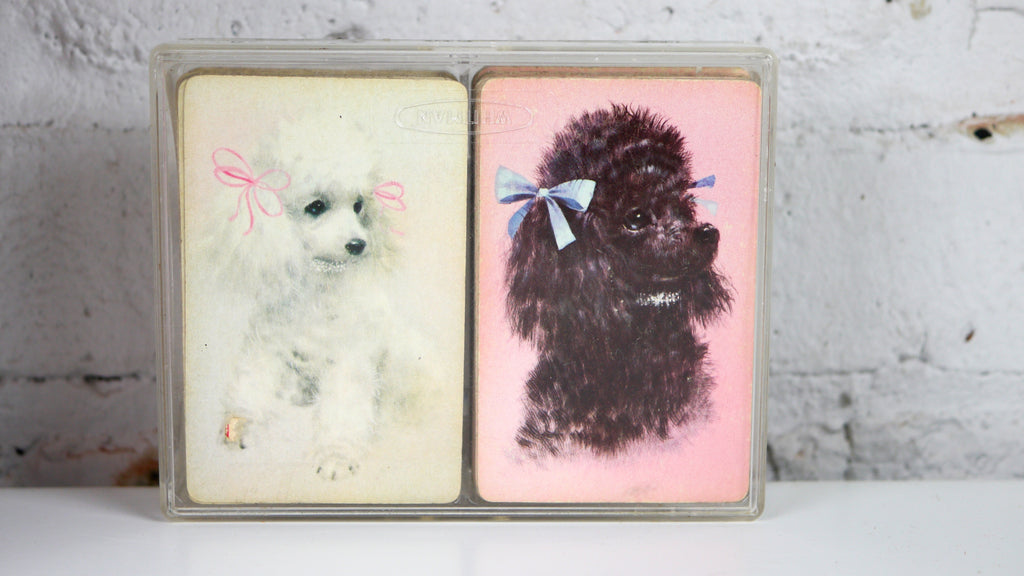 Vintage Playing Cards - Poodle in Black and White by Western Publishing