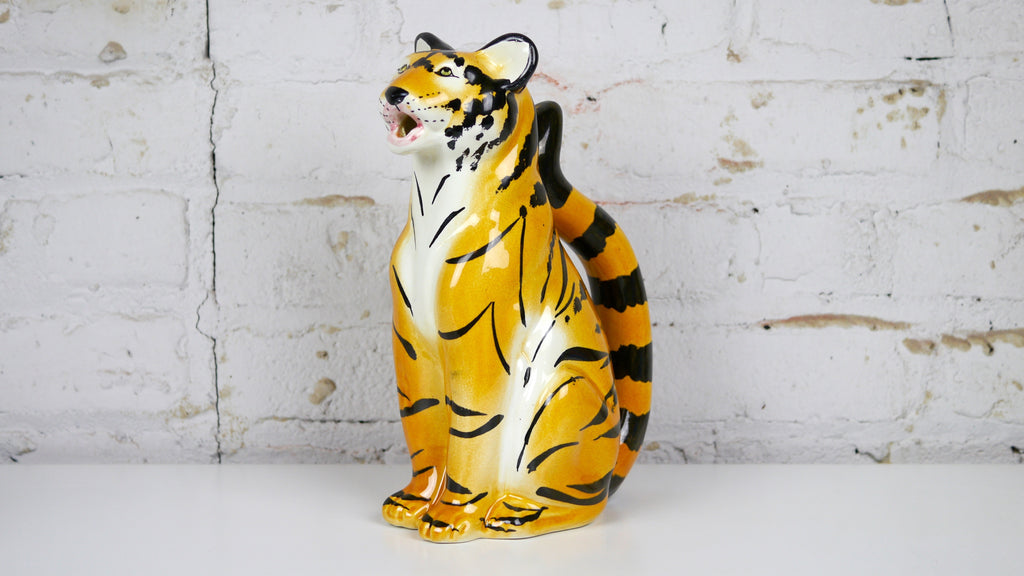 Vintage 1975 R.E.M. Italy Ceramic Tiger Pitcher