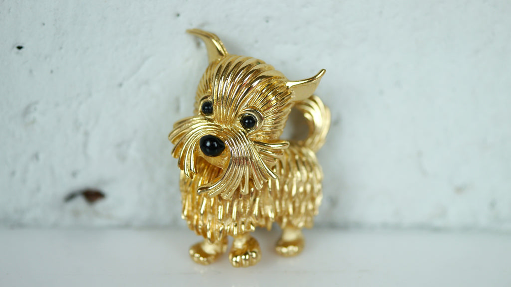 Vintage 1950s Brooch Boucher Scottie Dog