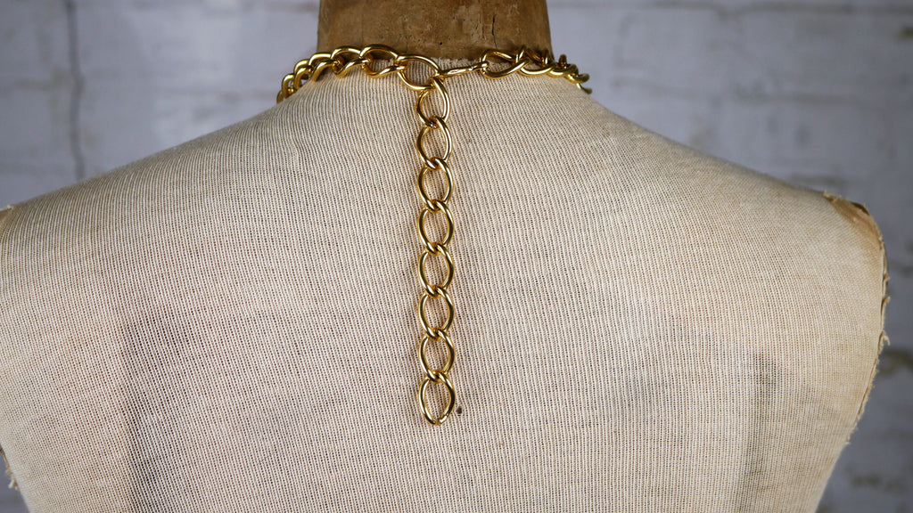 big vintage catawiki necklace givenchy gold kavels heavy and