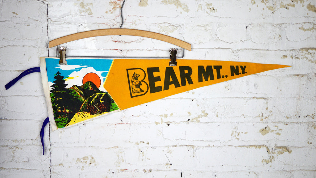 Vintage Bear Mountain New York Pennant Felt