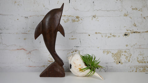 Vintage Wooden Dolphin Ironwood