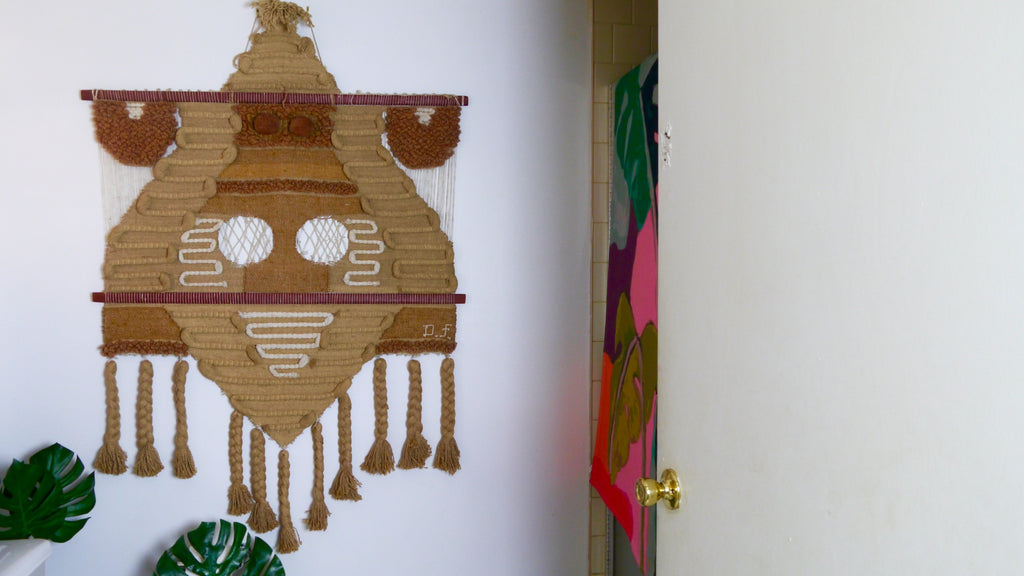 Vintage 1970's Don Freedman Wall Hanging Macrame Large Signed