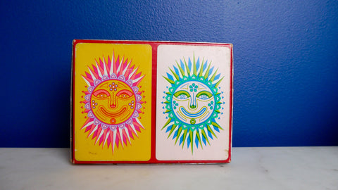 Vintage Mid Century Modern Playing Cards Double Deck Sun Russell Gladstone