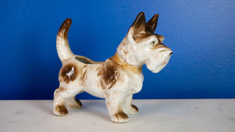 Vintage Mid Century Scottie Dog Planter Japan